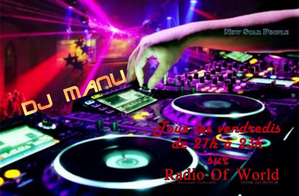 Dj Manu sur Radio Of World.