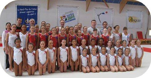 Stage Junior et Espoir GAF à Arques  par FFG (21/08/2012)