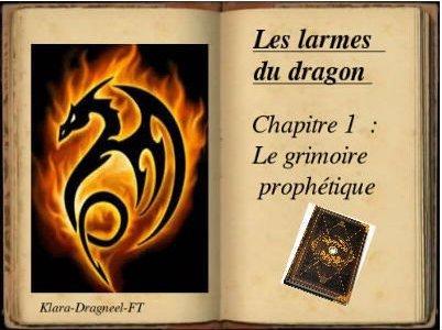 Les larmes du dragon Chapitre 1: Le grimoire prophétique.