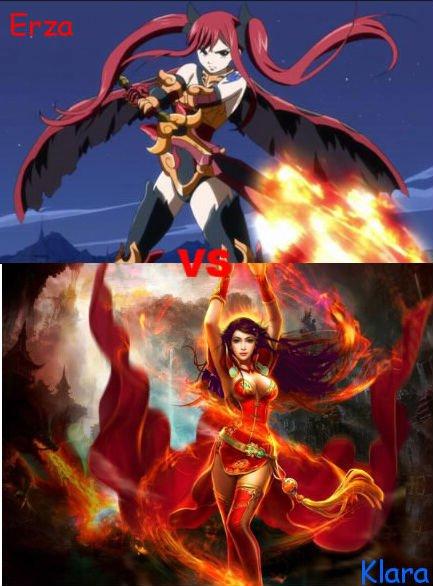 Les larmes du dragon Chapitre 6: Erza VS Klara