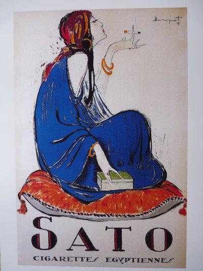 68 Affiche Orientaliste:Cigarette egyptienne SATO   60x91    25 euro    port 7e50