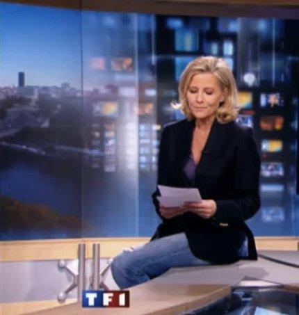 Les téléspectateurs choqués pour le jean troué de Claire Chazal