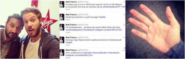 tweets de Matt + Matt Nyco & Marc chez Hanouna matin