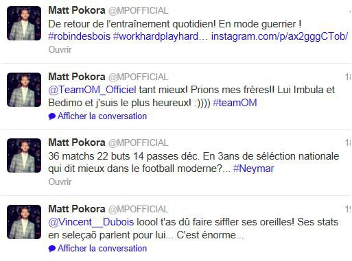Twitter M Pokora + replay Génaration M6 live
