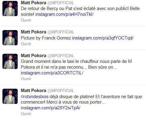 M Pokora au concert de Pat' + tweeter !!