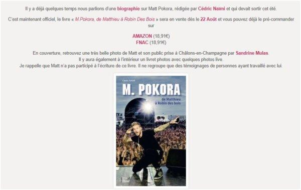 À Nous (version acoustique) + sorti deu livre sur M Pokora