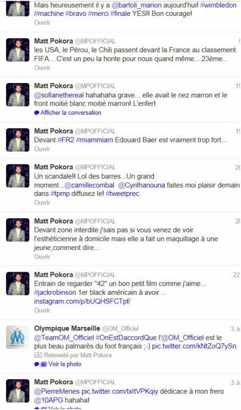 Twitter M Pokora + miking of de A Nous