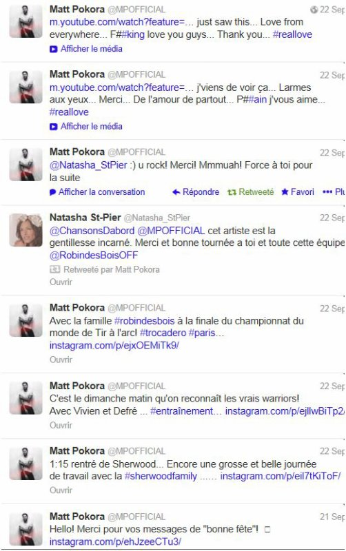 Twitter MP +anniv' et premier