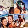 Nina en vacance à Cancun au Mexique.