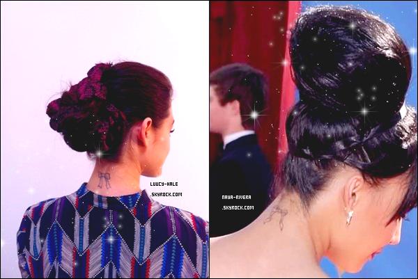 Elles portent le même tatouage au même endroit ;0   Simple coïncidence ? Ou manque d'imagination chez l'une d'elles ?