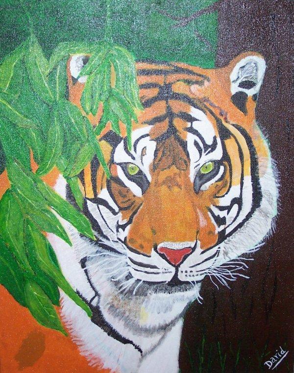 mes peintures acryliques sur feuilles toilées ou sur toile sur châssis