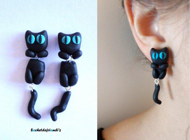 Boucles d'oreilles Chatons