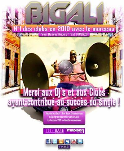 """BIG ALI N°1 des Clubs avec le morceau """"VEM DANCAR KUDURO"""" feat LUCENZO"""