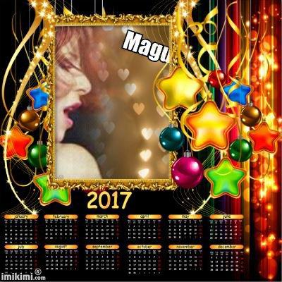 Calendrier 2017 pour vous mes amis/es