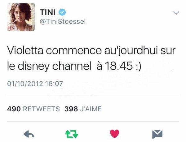 Ca fait 4 ans aujourd'hui que le premier épisode de Violetta à fait son apparition en France ! :o