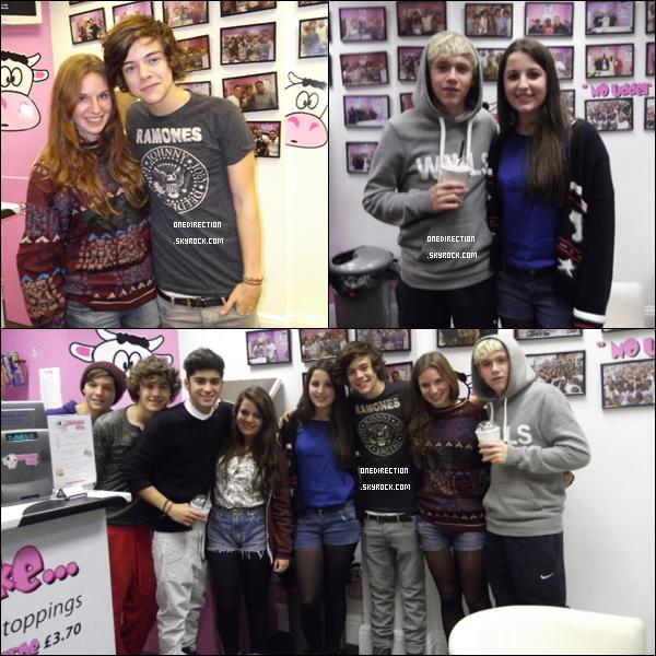 •  02 Novembre : Les garçons ont été aperçu au Milkshake City à Londres, des fans ont eu la chance de les rencontrer.