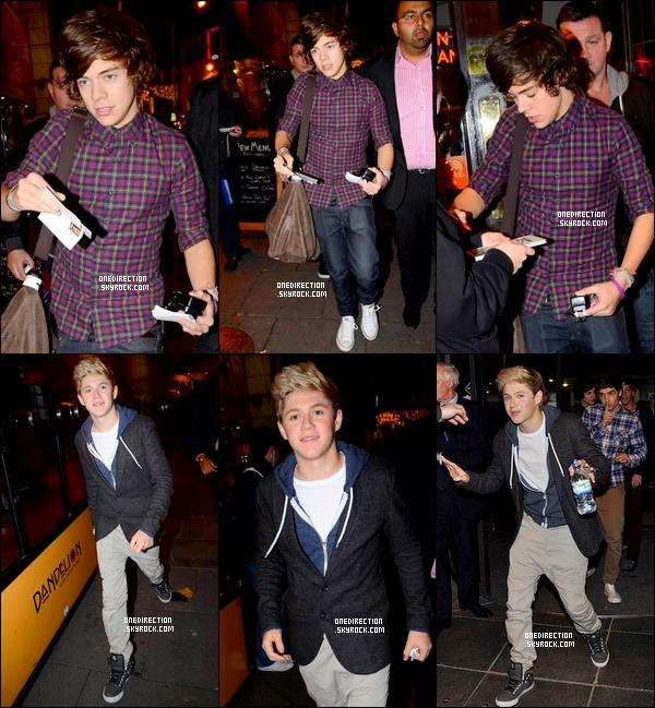 Voici les photos des garçons lorsqu'il étaient à Dublin, avec des fans et en soirée.