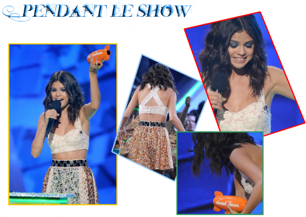 31 Mars 2012 ; Selena aux Kids Choice Awards 2012 / Events