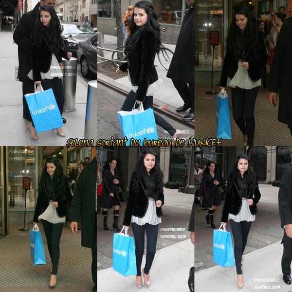 11 Avril 2012 ; Selena à la promotion de son Parfum, au bureau de l'UNICEF et fesant du shooping  / Candids