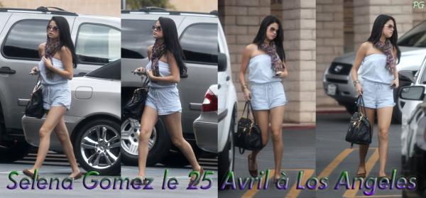 25 Avril 2012 ; Selena devant un resto et à L.A + Photos / Candids + Twitter + Instagram