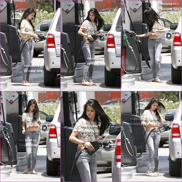 25 & 26 Mai 2012 ; Selena revenant à L.A. + Sel à la station d'essence / Candids