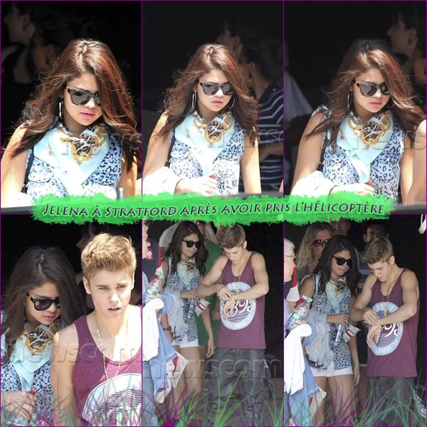 16 Juin 2012 ; Jelena allant à Stratford pour les MMVA's + juste après / Candids