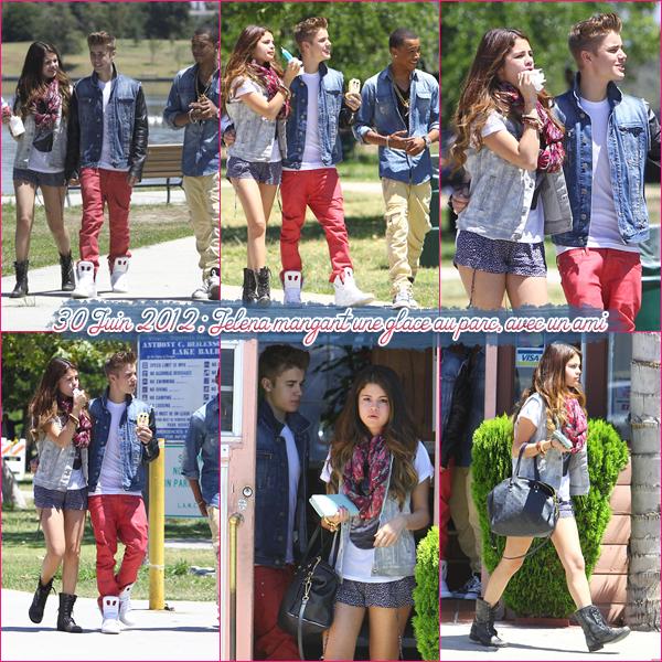 30 Juin 2012 ; Jelena au parc + Selena pour HT / Candids + Nouvelles Photos