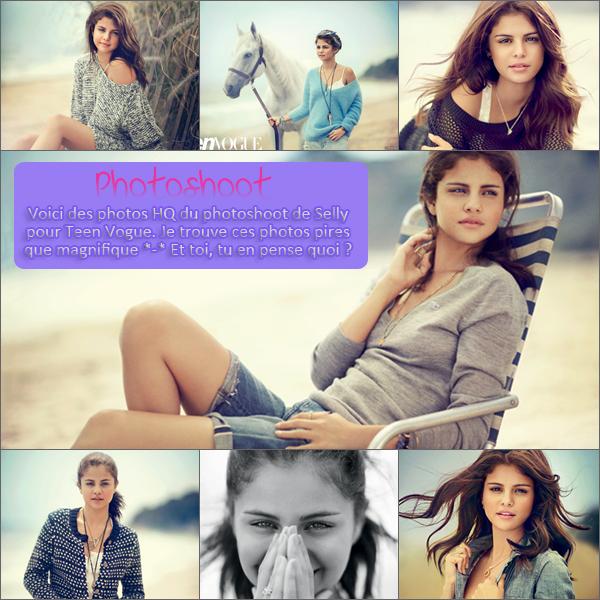 Pas de date ; Photoshoot pour Teen Vogue + Vidéo d'HT / Photoshoots + Vidéos