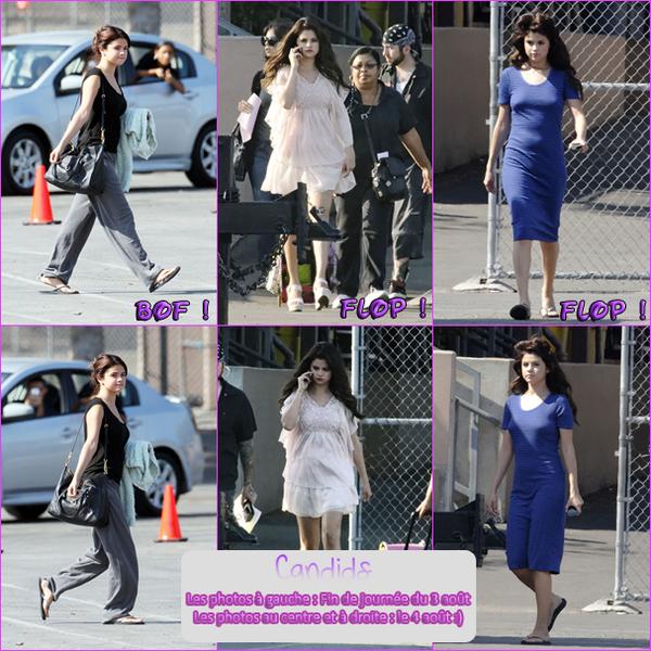 3, 4 & 5 Août 2012 ; Selena sur le set de FTD + Allant au resto avec Justin Bieber / Candids