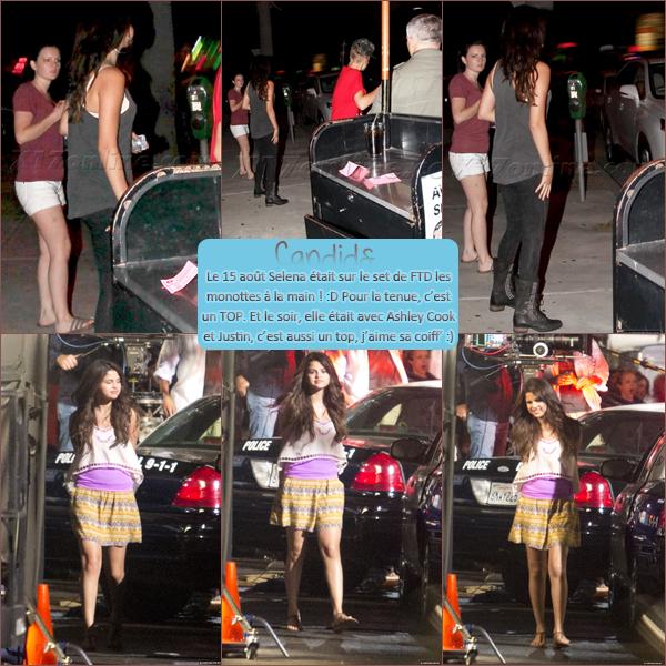 15 Août 2012 ; Sel sur le set de FTD + Le soir, avec Ashley et Justin / Candids