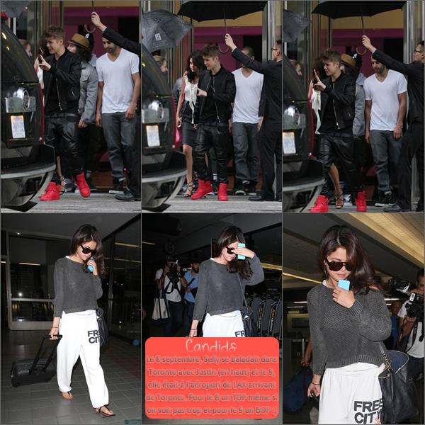 8 et 9 septembre 2012 ; Sel dans Toronto + à l'aéroport (Toronto + Los Angeles) / Candids