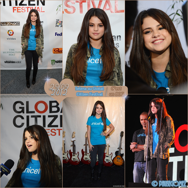 "27 & 29 septembre 2012 ; S. allant et arrivant au "" JKL "" et au Citizen Global Festival / Candids + Events"
