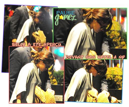 10 & 11 Novembre 2012 ; Sel arrivant à NYC, devant son hôtel, puis le quittant / Candids