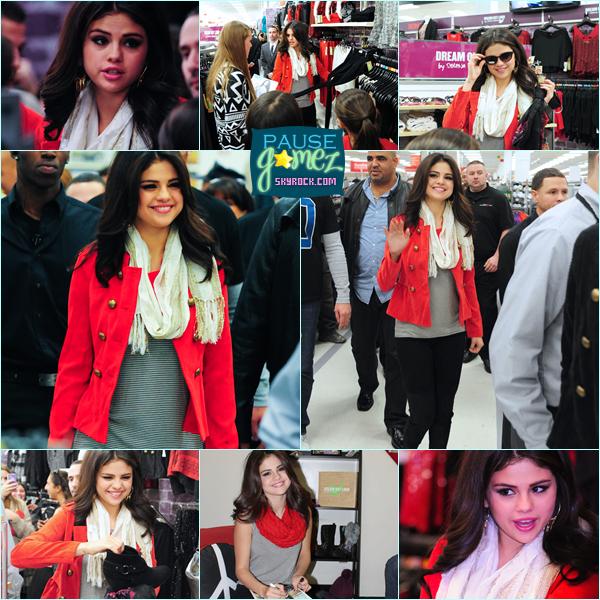 """11 novembre 2012 ; Selly sortant de son hôtel et dans la magasin """"Kmart"""" pour DOL / Candids"""