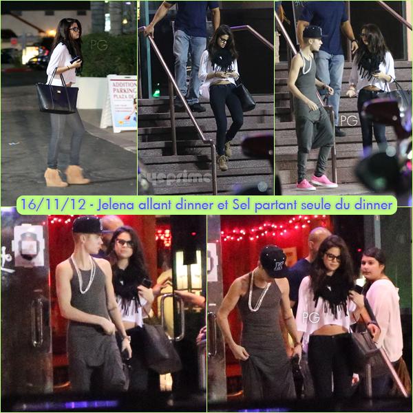 15 & 16 novembre 2012 ; Selly à un hôtel, arrivant à Laugh Factory, allant dinner, puis partant / Candids