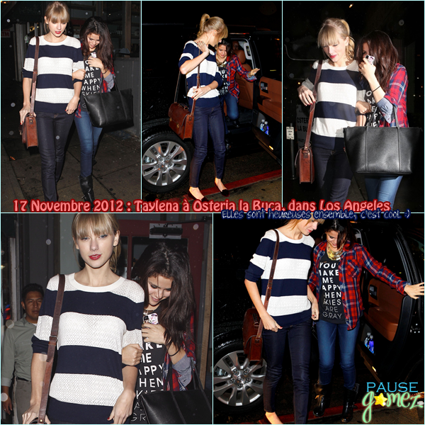17 novembre 2012 ; Sel à une station, avec Tay + New photos pour Galmour / Candids + Photoshoots
