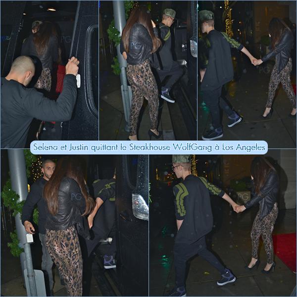 2, 3 & 4 décembre 2012 ; Jelena dans L.A. + rentrant + Sel quittant un studio, à un fast drive, quittant un centre et allant manger avec Sam' / Candids