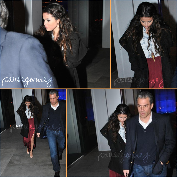 11.01.13 : Selena arrivant au BOA Steakhouse Restaurant.