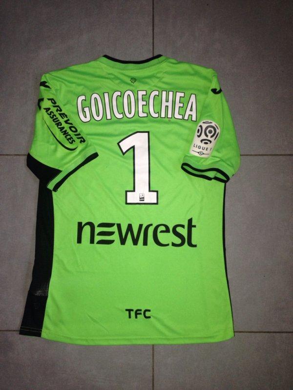 Saison 2015/2016 maillot porté Mauro GOICOECHEA lors de BASTIA/TFC