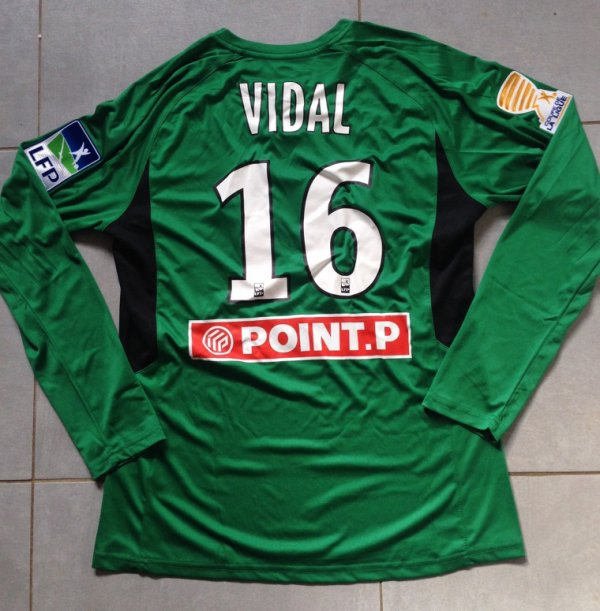 Saison 2015/2016 maillot porté Marc VIDAL lors TFC/OM (1/4 finale coupe de la Ligue)