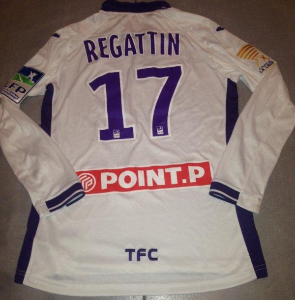 Saison 2015/2016 maillot porté par REGATTIN lors de RENNES/TFC ( coupe de la ligue)