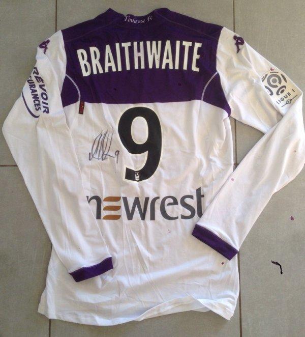Saison 2014/2015 MAILLOT porté par Martin BRAITHWAITE lors de Lille/TFC