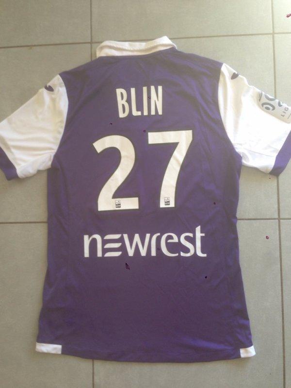 Saison 2016/2017 maillot porté par alexys BLIN lors de TFC/Nice