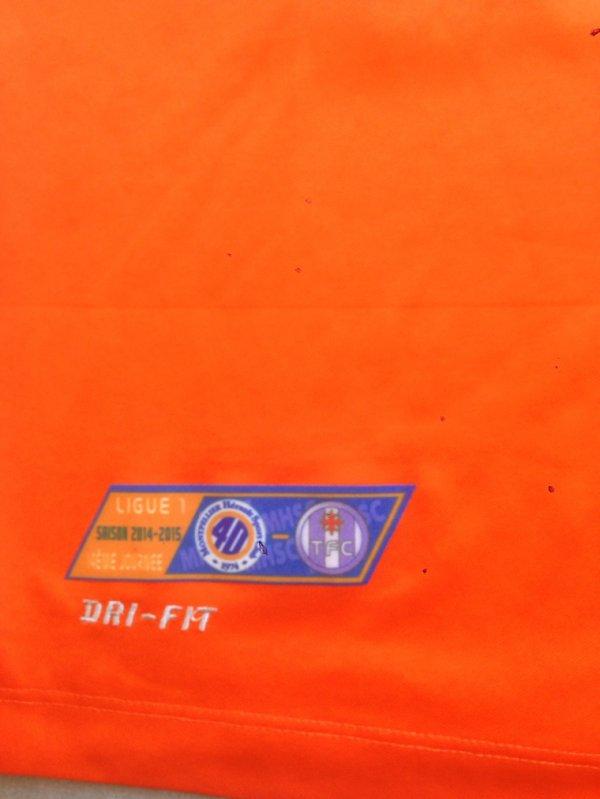 Saison 2014/2015 maillot porté par Daniel CONGRE lors de MONTPELLIER/TFC