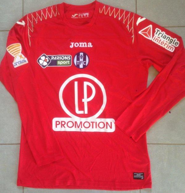 Saison 2017/2018 maillot porté PAR Mauro GOICOECHEA lors de TFC/bordeaux (COUPE DE LA LIGUE)