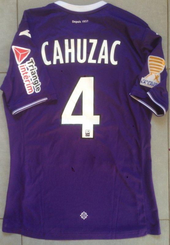 Saison 2017/2018 maillot porté PAR Yannick CAHUZAC lors de TFC/bordeaux (COUPE DE LA LIGUE)