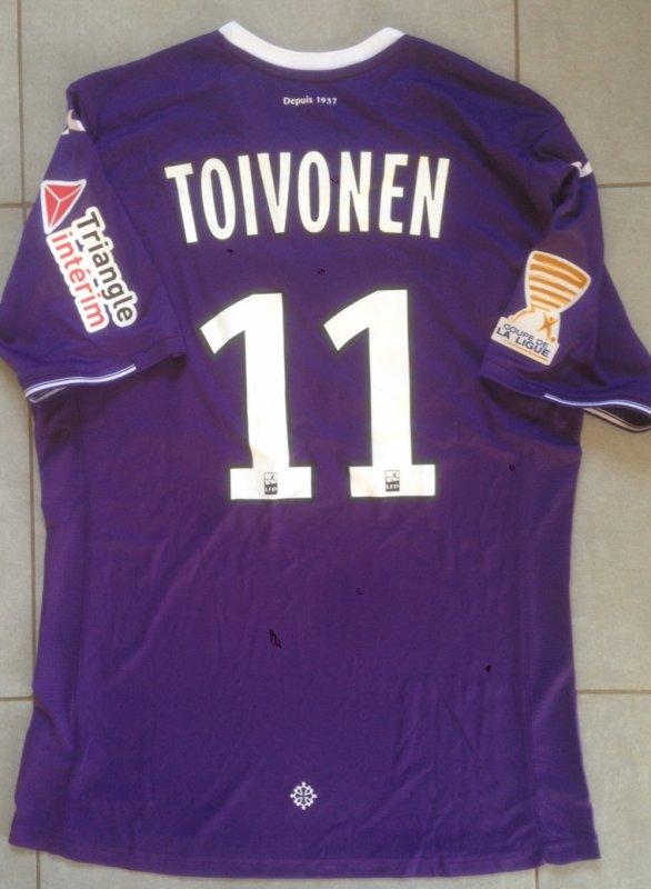 Saison 2017/2018 maillot porté PAr Ola TOIVONEN lors de TFC/Clermont (COUPE DE LA LIGUE)