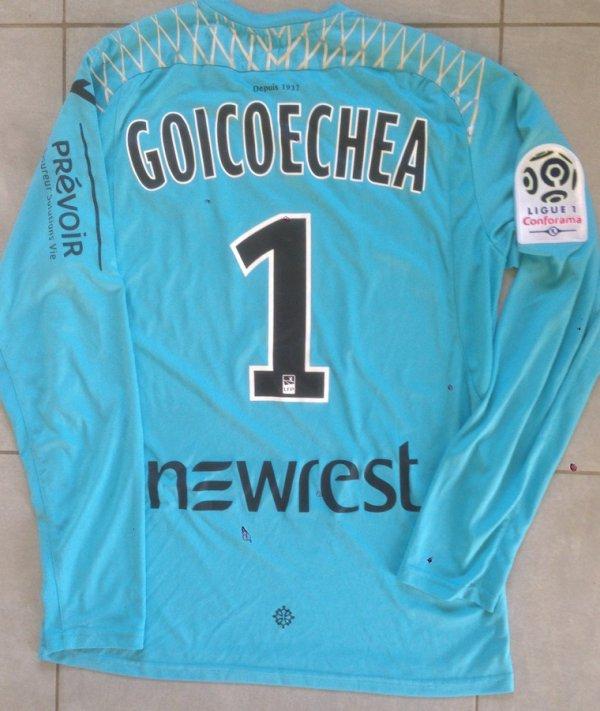 Saison 2017/2018 maillot porté PAR Mauro GOICOECHEA lors de Montpellier/TFC