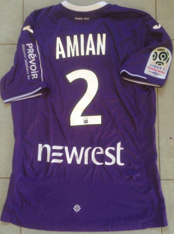 Saison 2017/2018 maillot porté par Kelvin AMIAN lors de NANTES/TFC