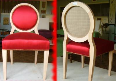 chaise contemporaine dossier rond des lys de styles. Black Bedroom Furniture Sets. Home Design Ideas